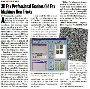 Article from PC Magazine - 26th September 1995